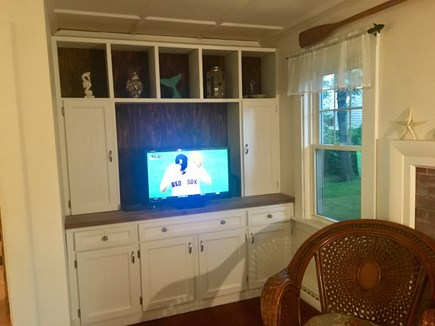 Chatham Harbor Fish Pier Cape Cod vacation rental - Entertainment Bar in living area.