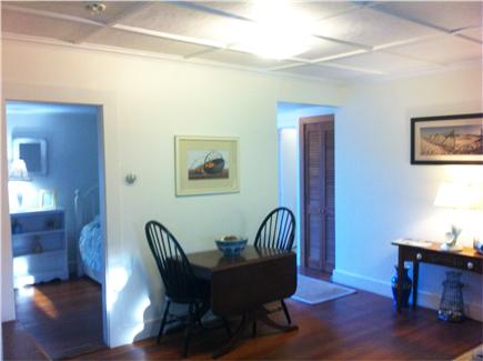 Chatham Harbor Fish Pier Cape Cod vacation rental - Dining area off of the Living Room - Opens to seat 8