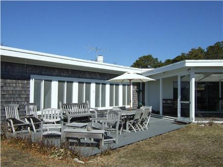 Wellfleet Cape Cod vacation rental - One of many outdoor sitting and eating areas