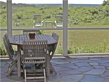 Wellfleet Cape Cod vacation rental - Screened porch and view