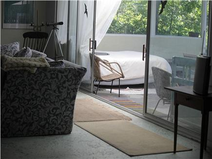 Wellfleet Cape Cod vacation rental - Extra queen bed on large screen porch.