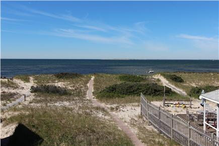 Truro Cape Cod vacation rental - View of Dune & Bay From Master Bedroom Deck