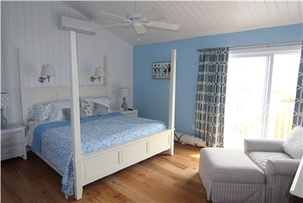 Truro Cape Cod vacation rental - Master Bedroom - King Bed & Deck