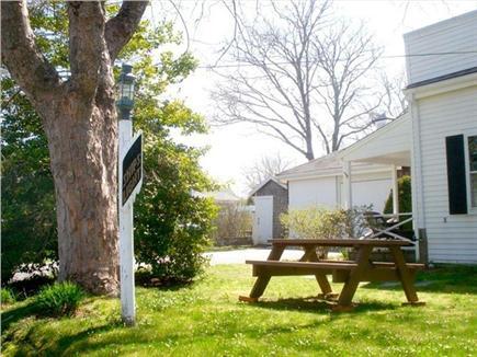 Chatham Cape Cod vacation rental - Shady back yard, looking toward off-street parking