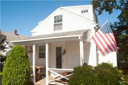 Chatham Cape Cod vacation rental - Back porch with picnic table and seating area
