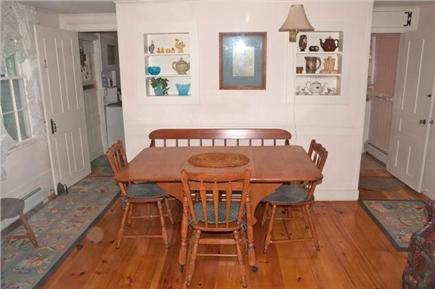 Chatham Cape Cod vacation rental - Dining room, looking toward kitchen on left and bath on right