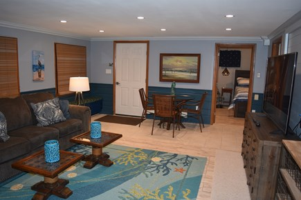 Chatham Cape Cod vacation rental - Lower floor family room with large screen TV and Pull out sofabed