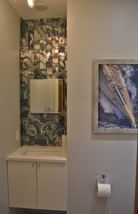 Chatham Cape Cod vacation rental - First Floor Powder Room/ Half bath - 2019 addition