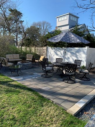 West Yarmouth Cape Cod vacation rental - Patio and fire pit area
