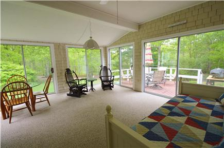 Barnstable Village Cape Cod vacation rental - Sunroom that flows to the deck for grilling and entertaining