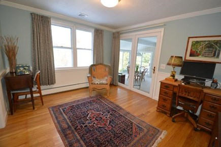 Barnstable Village Cape Cod vacation rental - Office with slider to sunroom