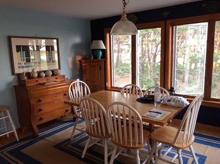 South Wellfleet Cape Cod vacation rental - The Dining Room with seating for eight