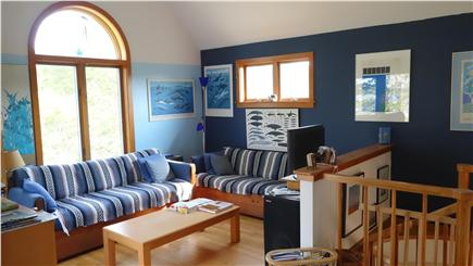 South Wellfleet Cape Cod vacation rental - The Living Room with two couches