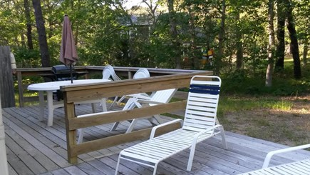 Eastham Cape Cod vacation rental - Back deck with patio furniture and gas grill