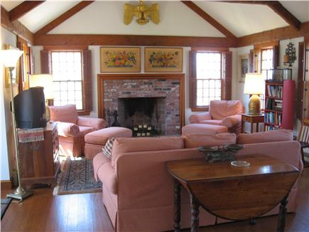 East Dennis Cape Cod vacation rental - Cathedral Living Room