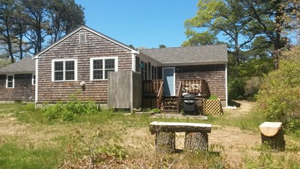 Eastham Cape Cod vacation rental - Large Back yard with deck, outdoor shower, Seating areas