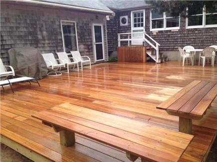 Eastham Cape Cod vacation rental - New deck  with fire pit.