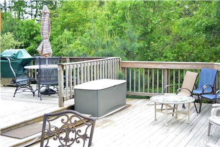 Pocasset, Bourne Pocasset vacation rental - Deck cooking/eating area with grill