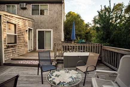 Pocasset, Bourne Pocasset vacation rental - Deck area for conversation