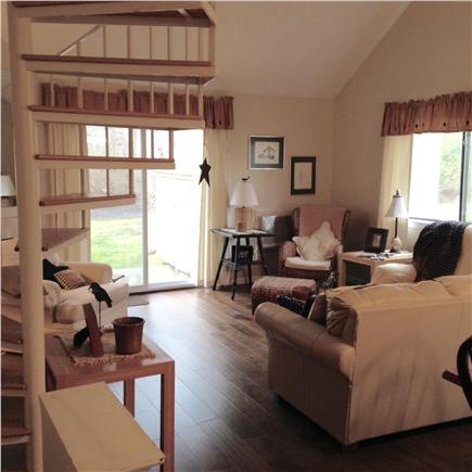 Brewster, Ocean Edge Resort Cape Cod vacation rental - Family Room with slider to patio