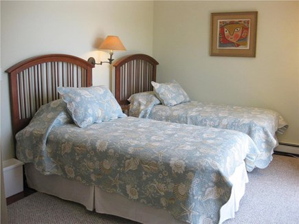 Centerville Centerville vacation rental - Twin beds in second bedroom with slider to back deck
