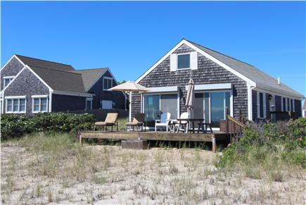 North Truro, Beach Point Cape Cod vacation rental - Deck Viewing Cape Cod Bay