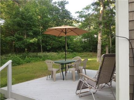 East Orleans Cape Cod vacation rental - Quiet & private woods. Perfect deck for relaxing & outdoor eating