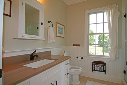 Barnstable Village Cape Cod vacation rental - Downstairs Bathroom - Has a large shower, too.