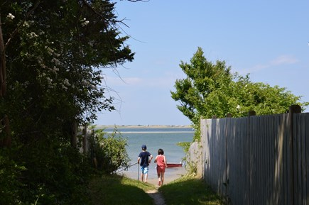 Barnstable Village Cape Cod vacation rental - Path at the end of the street to get to beach.