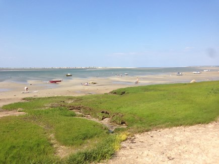 Barnstable Village Cape Cod vacation rental - Beach at low tide - just down the street.  Sandy Neck Lighthouse