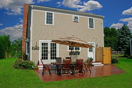 Barnstable Village Cape Cod vacation rental - Table & Chairs for 10 + BBQ grill & Outside Shower.
