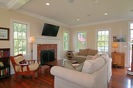 Barnstable Village Cape Cod vacation rental - Living Room  New TV in 2017 and New Couches not shown 2016