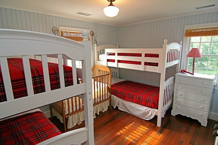 Barnstable Village Cape Cod vacation rental - Upstairs Bedroom #3 with 2 Bunk Beds.