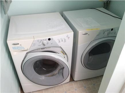 New Seabury, Rock Landing Cape Cod vacation rental - High-efficiency washer and dryer in bathroom.