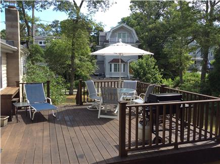 New Seabury, Rock Landing Cape Cod vacation rental - Spacious sunny deck with barbecue and built in bar