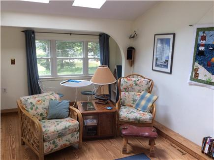 New Seabury, Rock Landing Cape Cod vacation rental - Living area also has stereo, bluray, wifi  and breakfast nook