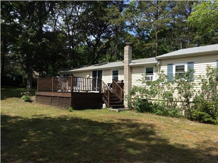 New Seabury, Rock Landing Cape Cod vacation rental - Spacious backyard with deck only 600 feet to the beach
