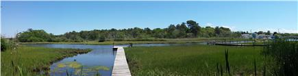 Dennis Port Cape Cod vacation rental - Walk out on the dock to the Swan River