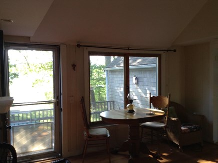 Dennis Port Cape Cod vacation rental - Living room with beautiful view of dock and river