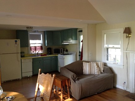 Dennis Port Cape Cod vacation rental - Spacious living room with cathedral ceiling