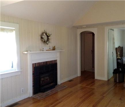 Dennis Port Cape Cod vacation rental - The living room showing the 2 doors going to bedroom 1 and 2