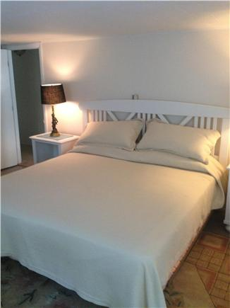 Barnstable Village Cape Cod vacation rental - Master with new cottage  furniture at one end of hall, king sized