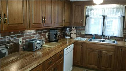 Barnstable Village Cape Cod vacation rental - Kitchen has white appliances and is well stocked