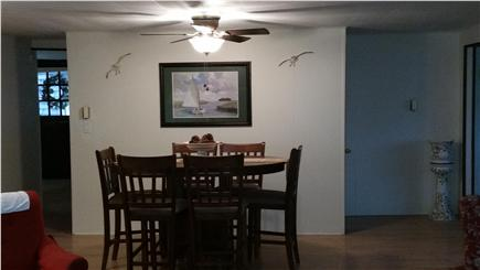 Barnstable Village Cape Cod vacation rental - Dining room  High Top Table at far end of Living room