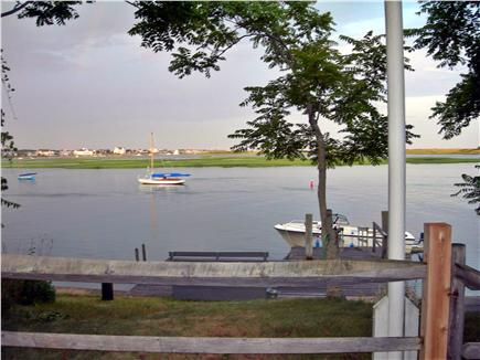 Yarmouth, Bass River Cape Cod vacation rental - View of waterfront dock and float on Bass River facing east