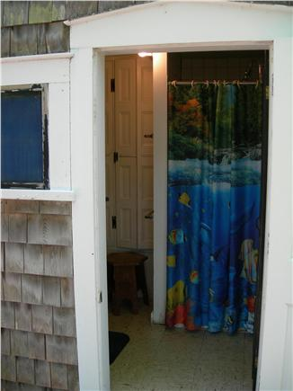 Yarmouth, Bass River Cape Cod vacation rental - Outdoor entrance to bathroom and shower