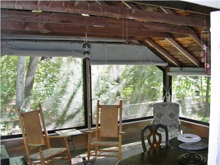 Yarmouth, Bass River Cape Cod vacation rental - Screened in porch w/awnings