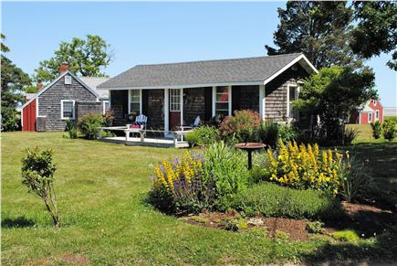 Barnstable, Cummaquid Cape Cod vacation rental - View of cottage from private road.