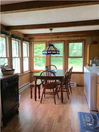 Eastham Cape Cod vacation rental - Kitchen w/washer, dryer, stainless steel fridge, oven