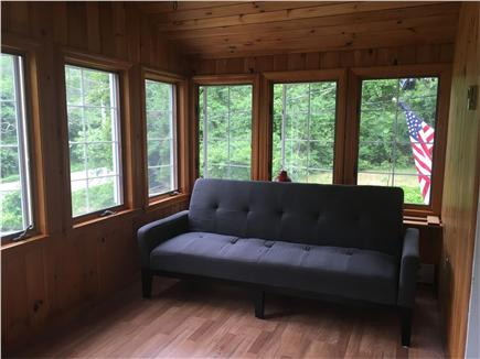 Eastham Cape Cod vacation rental - Super sunny sun room with ample seating and futon